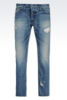 Armani Jeans Men tapered light wash jeans