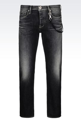 Armani Jeans Men slim fit dark wash jeans