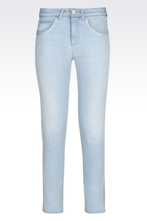 SKINNY FIT LIGHT WASH JEANS: Jeans Women by Armani - 1