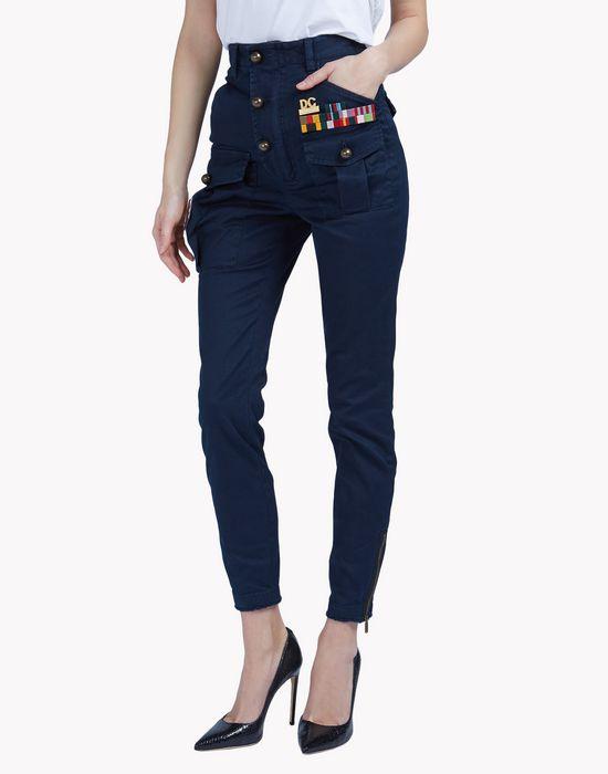 golden arrow high waist pants pants Woman Dsquared2