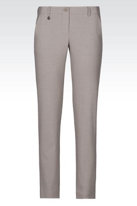 Armani Chinos Women slim fit trousers in viscose blend