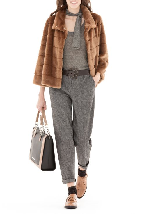 WOOL BLEND TROUSERS: Straight leg trousers Women by Armani - 2