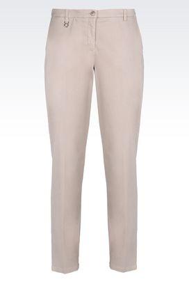 Armani Chinos Women satin trousers