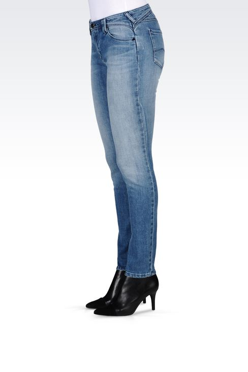 J28 SKINNY FIT LIGHT WASH JEANS: Jeans Women by Armani - 3