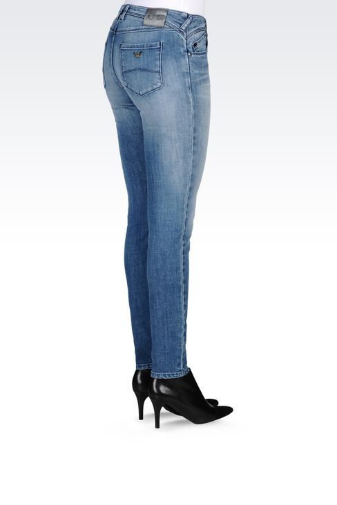 J28 SKINNY FIT LIGHT WASH JEANS: Jeans Women by Armani - 4