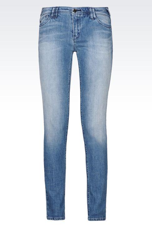 J28 SKINNY FIT LIGHT WASH JEANS: Jeans Women by Armani - 1