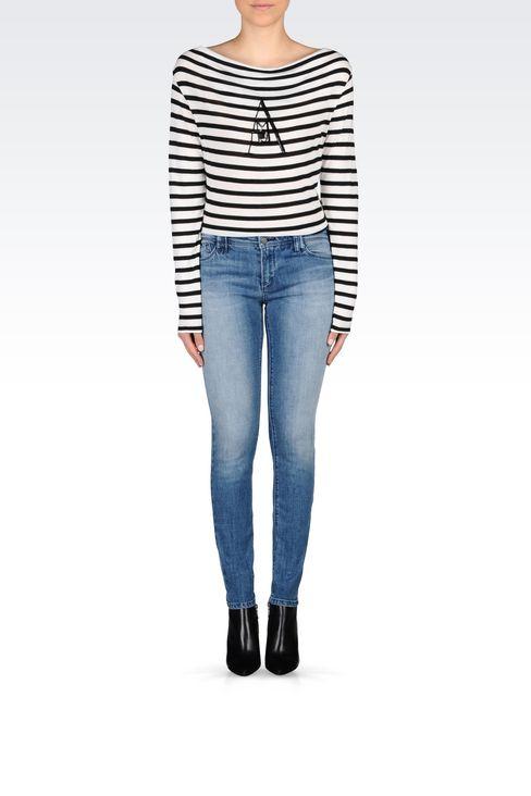 J28 SKINNY FIT LIGHT WASH JEANS: Jeans Women by Armani - 2