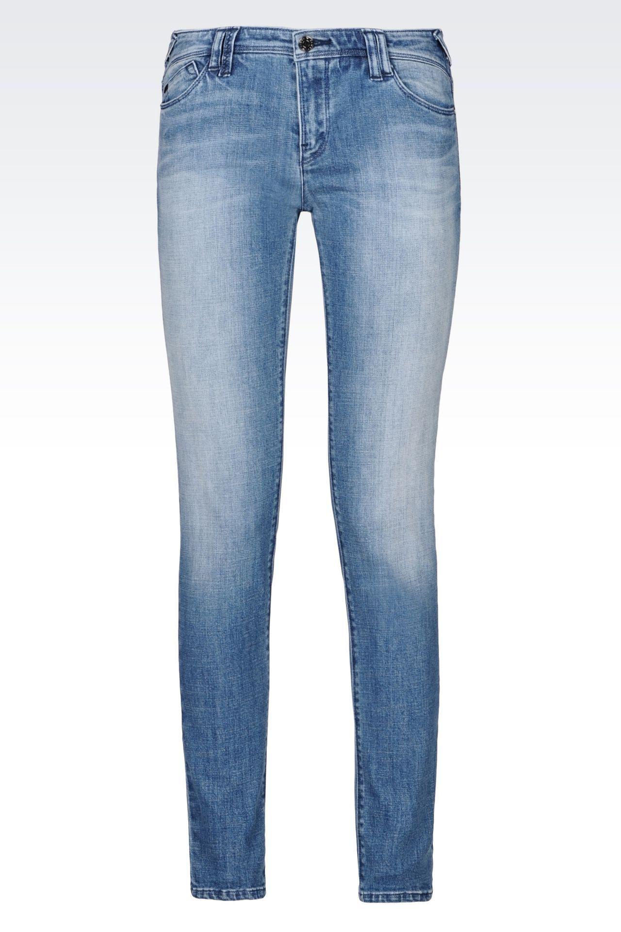 J28 SKINNY FIT LIGHT WASH JEANS: Jeans Women by Armani - 0