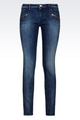 Armani Jeans 5 poches Femme j66 jean skinny lavage foncé
