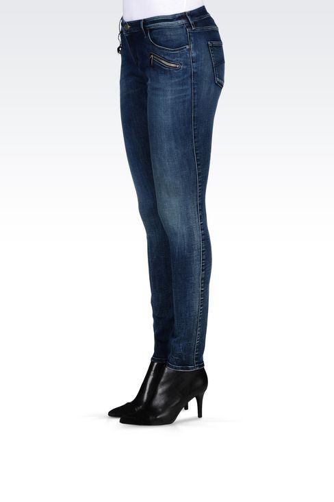 J66 SKINNY DARK WASH JEANS: Jeans Women by Armani - 3