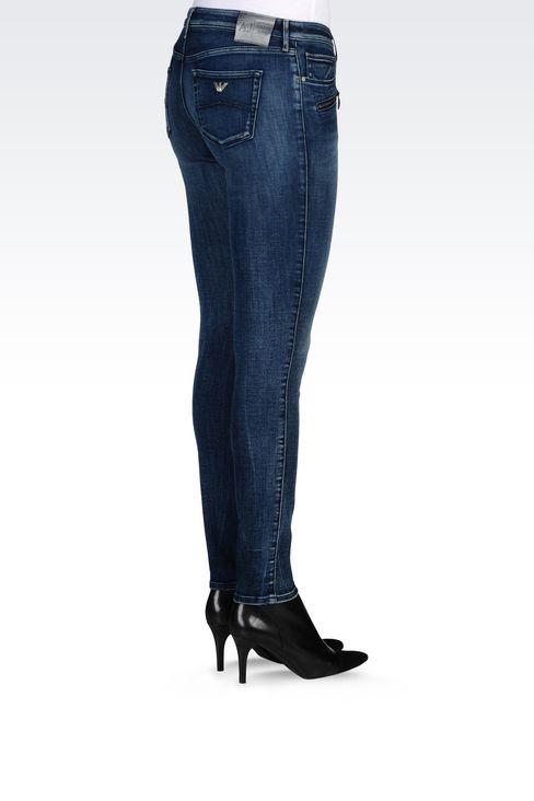 J66 SKINNY DARK WASH JEANS: Jeans Women by Armani - 4