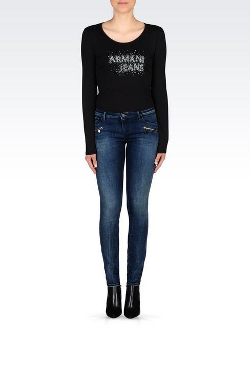 J66 SKINNY DARK WASH JEANS: Jeans Women by Armani - 2