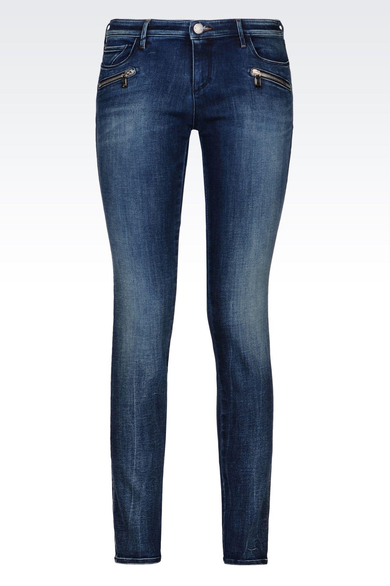 J66 SKINNY DARK WASH JEANS: Jeans Women by Armani - 0