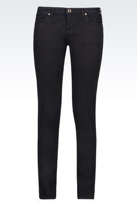 Armani 5 pockets Women j06 skinny dark wash jeans