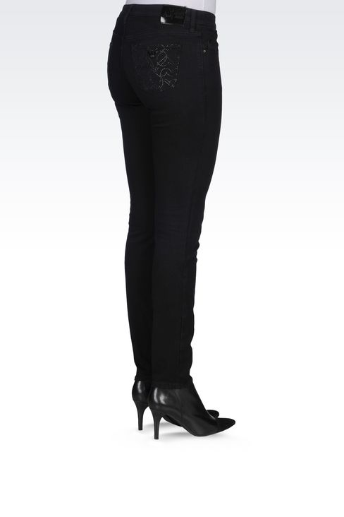 J06 SKINNY DARK WASH JEANS: Jeans Women by Armani - 4
