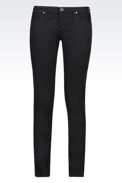 J06 SKINNY DARK WASH JEANS: Jeans Women by Armani - 1