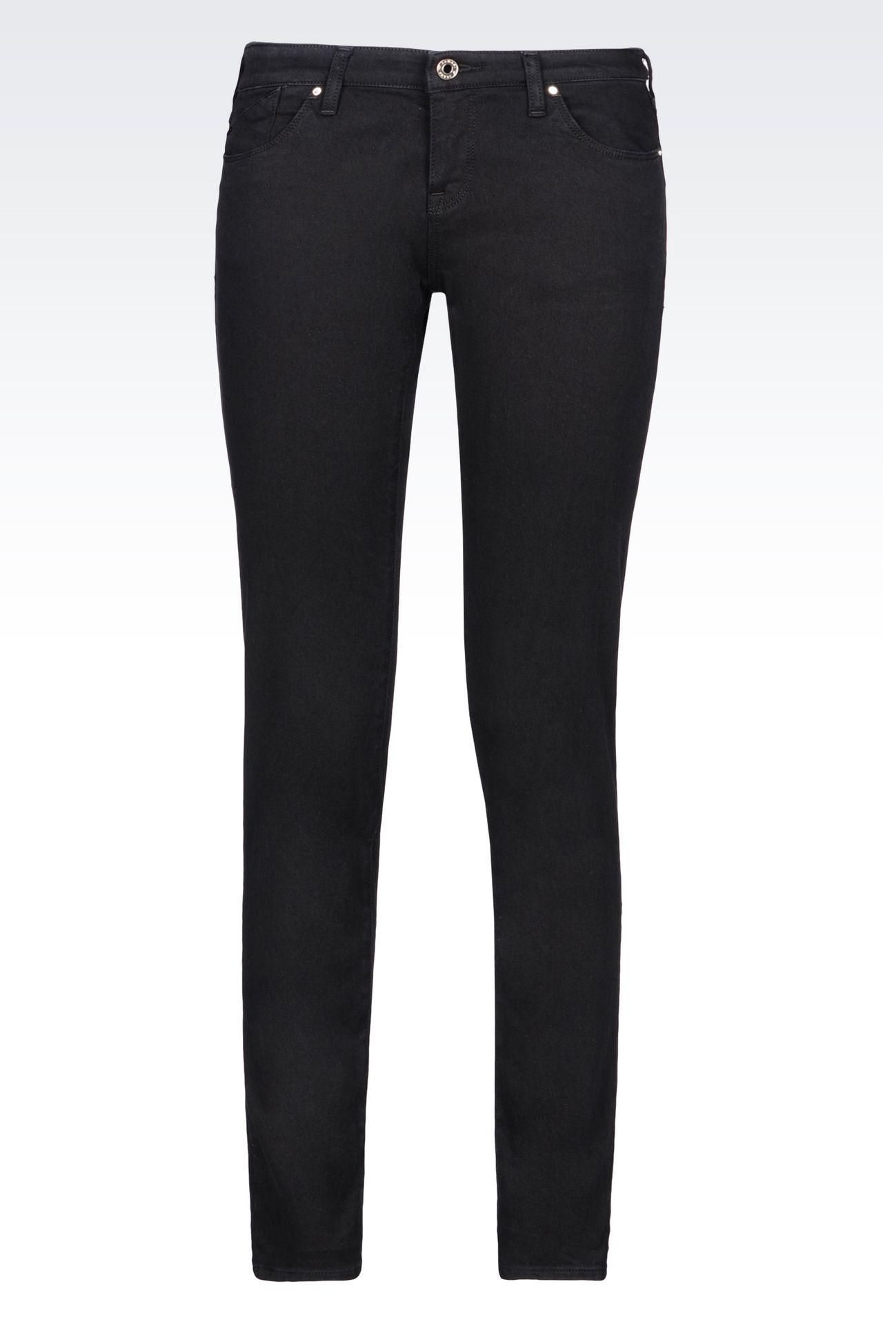 J06 SKINNY DARK WASH JEANS: Jeans Women by Armani - 0
