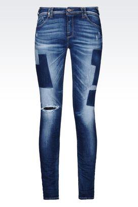 Armani Jeans 5 poches Femme j28 jean coupe skinny, lavage moyen