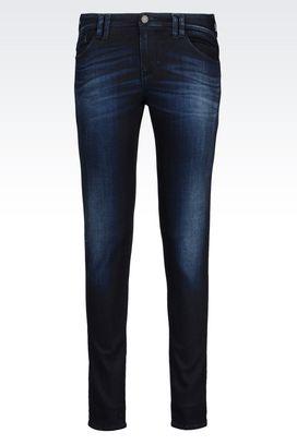 Armani Jeans 5 poches Femme j28 jean skinny lavage foncé