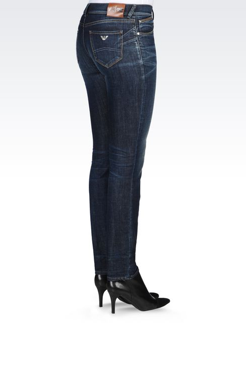 J23 PUSH UP DARK WASH JEANS: Jeans Women by Armani - 4