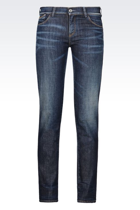 J23 PUSH UP DARK WASH JEANS: Jeans Women by Armani - 1