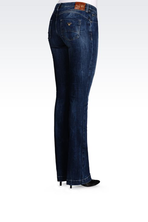 J07 REGULAR FIT DARK WASH JEANS: Jeans Women by Armani - 4