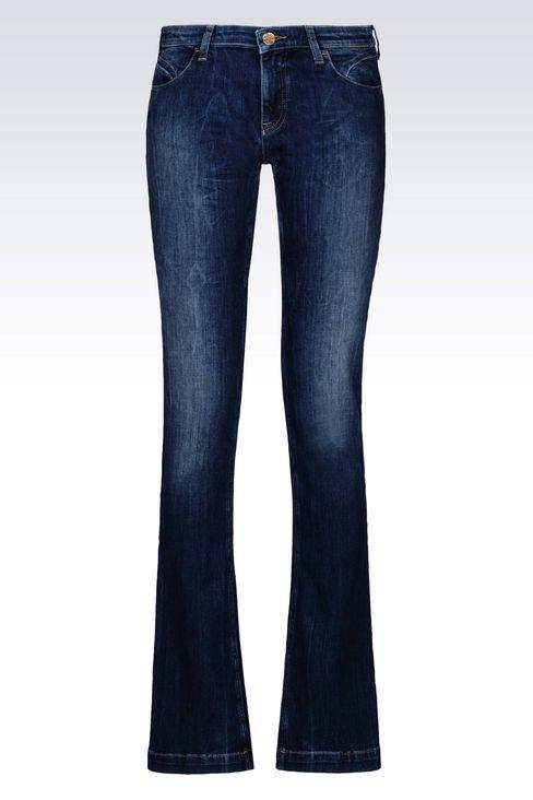 J07 REGULAR FIT DARK WASH JEANS: Jeans Women by Armani - 1