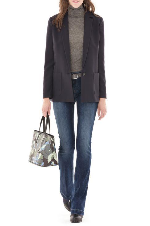 J07 REGULAR FIT DARK WASH JEANS: Jeans Women by Armani - 2