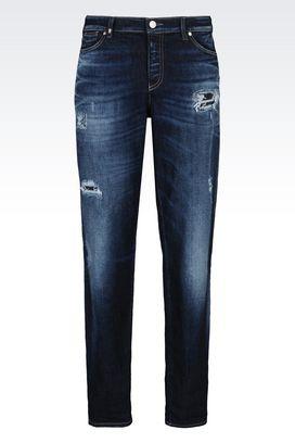 Armani Jeans 5 poches Femme j15 jean coupe girlfriend, lavage foncé