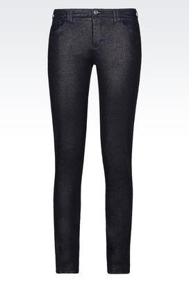 Armani Jeans Women j28 skinny fit laminated effect jeans