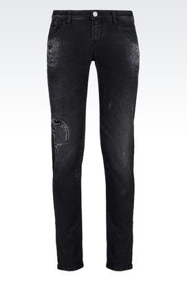 Armani Jeans Women j06 skinny black wash jeans