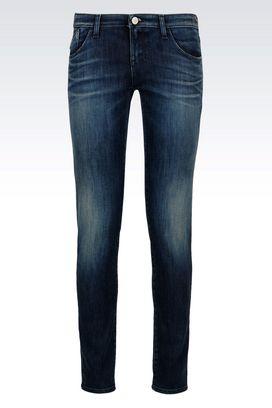 Armani Jeans 5 poches Femme j06 jean skinny lavage foncé