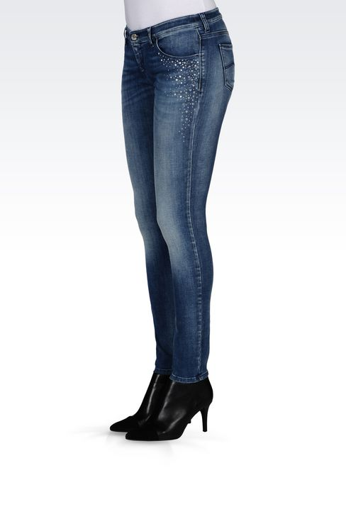 J06 SKINNY FIT LIGHT WASH JEANS: Jeans Women by Armani - 3