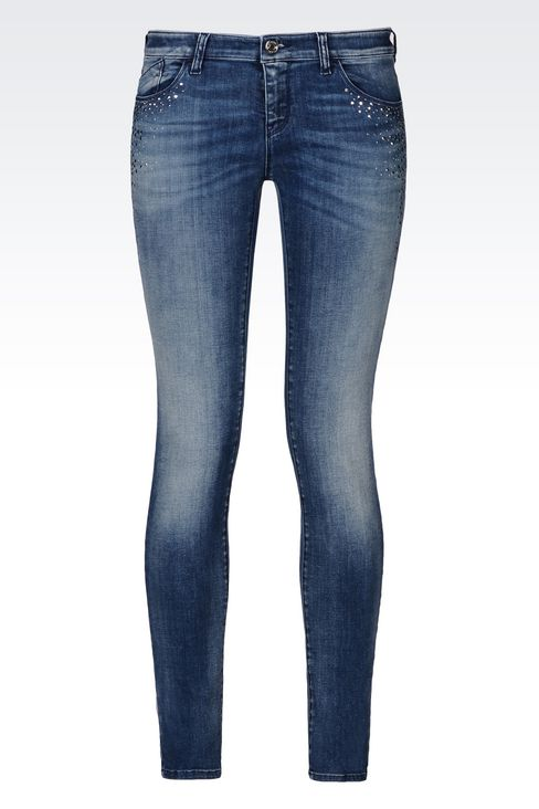 J06 SKINNY FIT LIGHT WASH JEANS: Jeans Women by Armani - 1