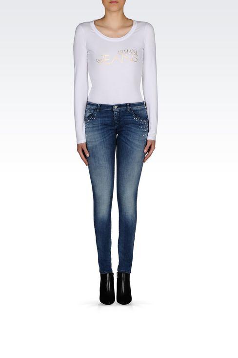 J06 SKINNY FIT LIGHT WASH JEANS: Jeans Women by Armani - 2