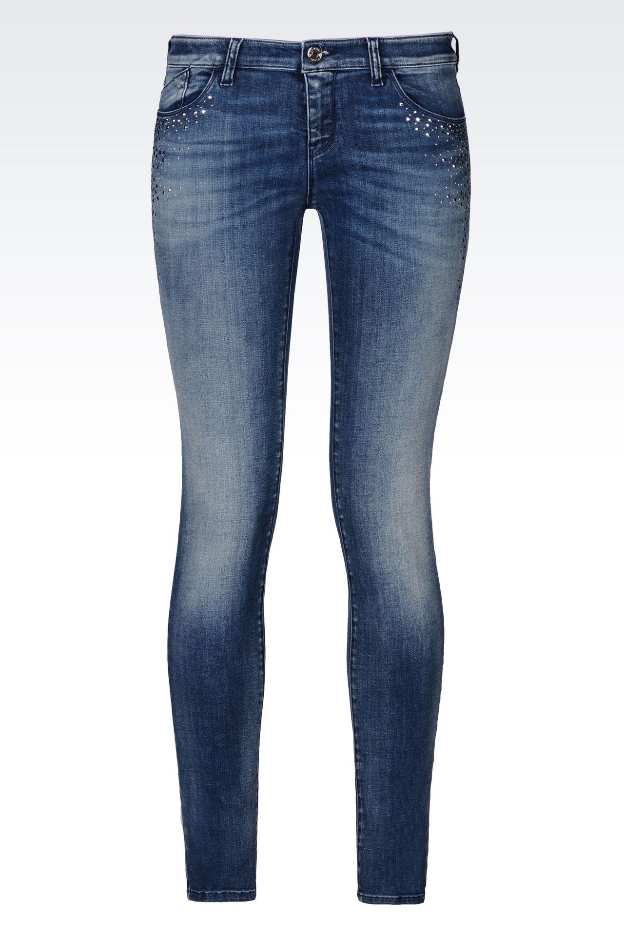 J06 SKINNY FIT LIGHT WASH JEANS: Jeans Women by Armani - 0