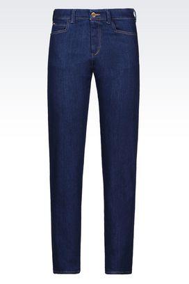 Armani Jeans 5 poches Femme j16 jean coupe classique, lavage foncé