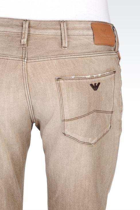 J06 SLIM FIT GREY WASH JEANS: Jeans Men by Armani - 5