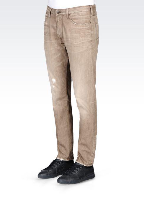 J06 SLIM FIT GREY WASH JEANS: Jeans Men by Armani - 3