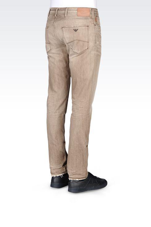 J06 SLIM FIT GREY WASH JEANS: Jeans Men by Armani - 4