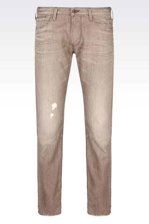 J06 SLIM FIT GREY WASH JEANS: Jeans Men by Armani - 1