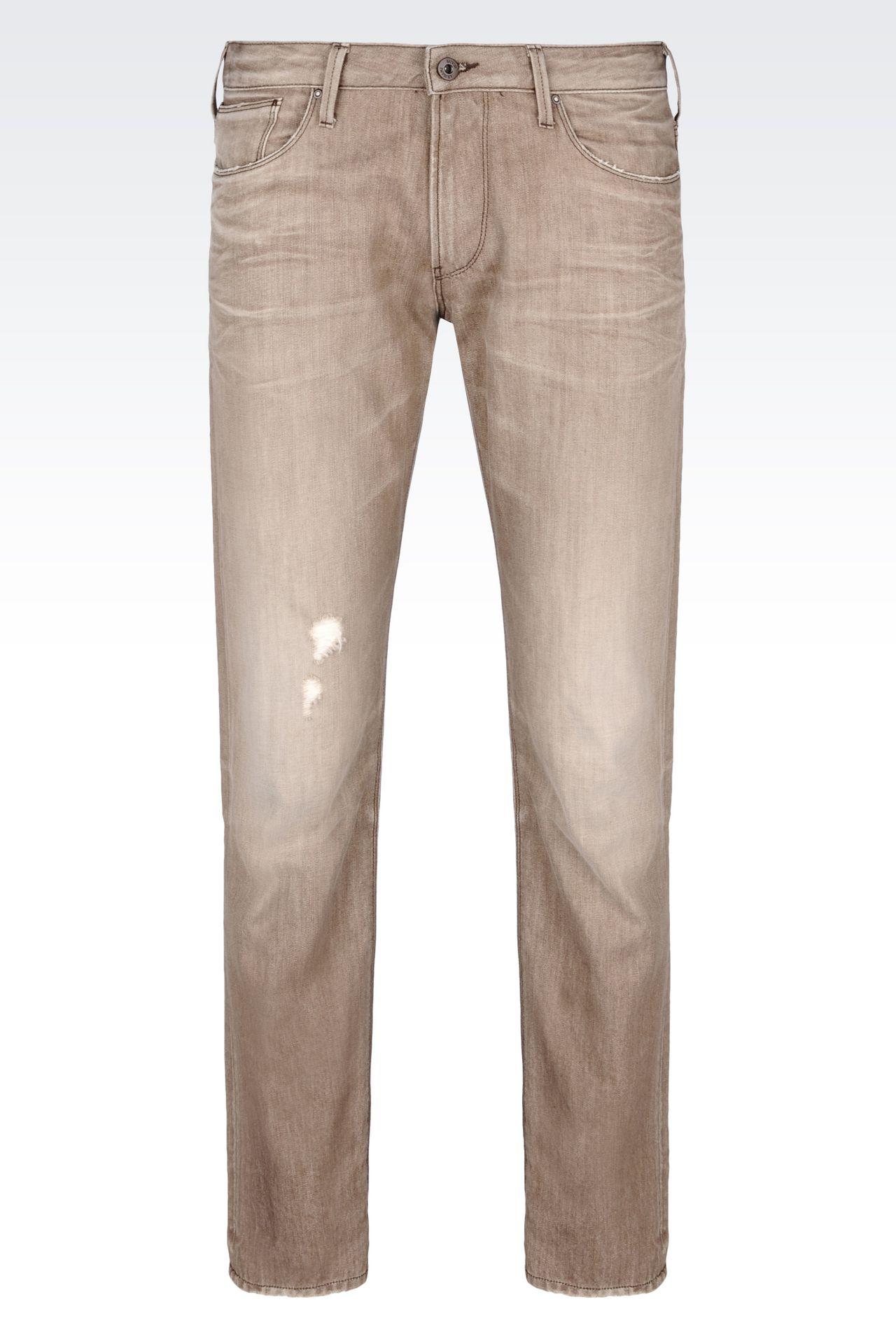 J06 SLIM FIT GREY WASH JEANS: Jeans Men by Armani - 0