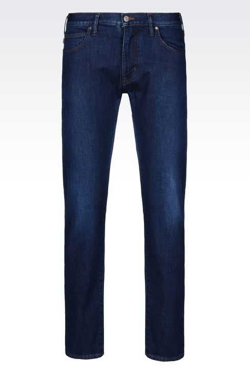 Armani Jeans Men J45 SLIM FIT DARK WASH JEANS, Cotton - Armani.com