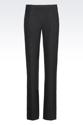 Armani Straight leg pants Women trousers in jacquard