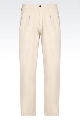 Armani Pants with tucks Men trousers in stretch satin