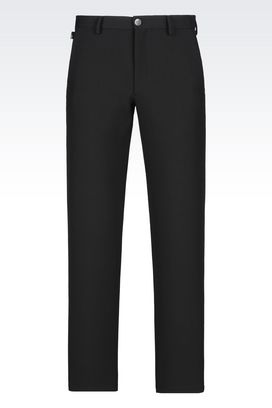 Armani Classic pants Men trousers in faille