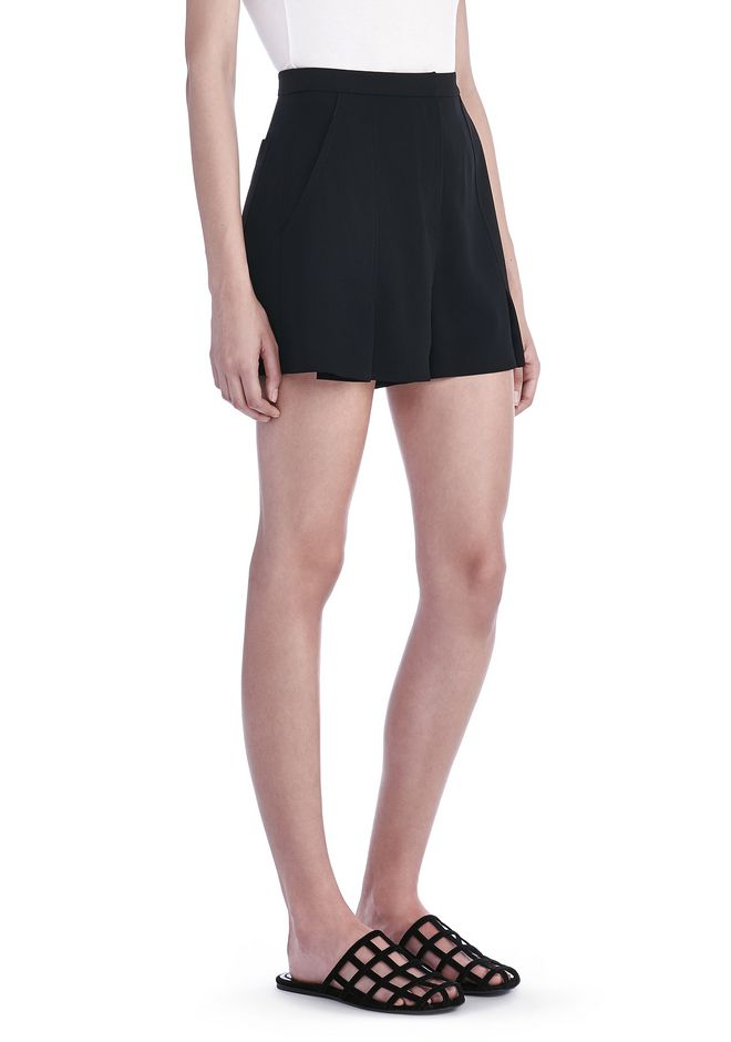 T by ALEXANDER WANG SHORTS Women POLY CREPE FLUTTER SHORTS