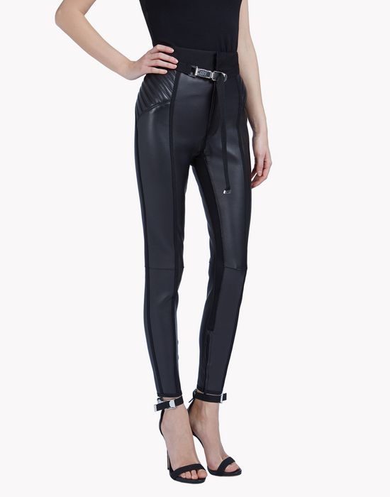 cyclone leather high waist pants pants Woman Dsquared2