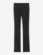 Iconic LE SMOKING 70's Flared Trouser in Black Virgin Wool Crêpe