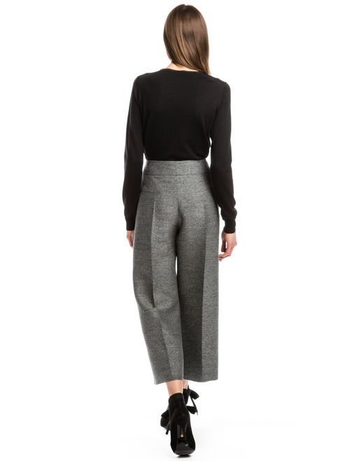 lanvin wide high-waisted trousers  women